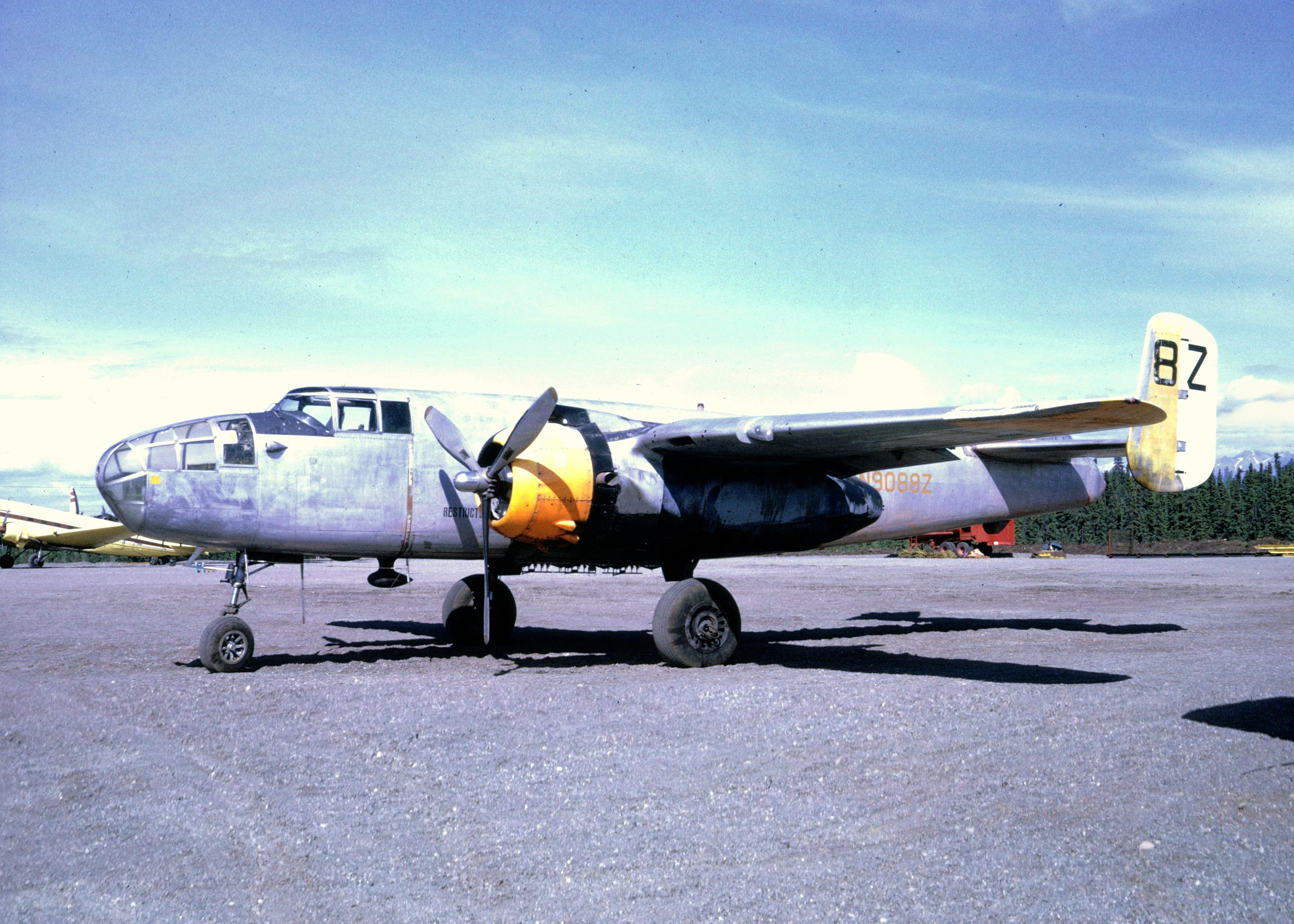 Historical photo of the B-25 as a fire suppression bomber